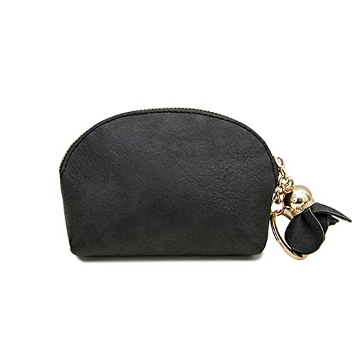 5a709505a3e28d Image Unavailable. Image not available for. Color: Evaliana Small Mini  Wallet Card Key Holder Zip Coin Purse Clutch Bag