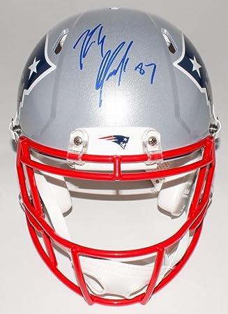 Rob Gronkowski New England Patriots Signed Autographed Replica Speed Helmet  JSA 23cbb462b