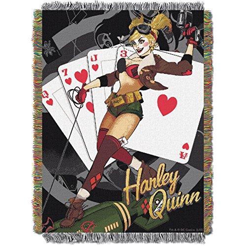 Northwest Company DC Bombshells: Harley Quinn Woven Tapestry Blanket]()
