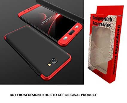 reputable site 512c1 01fde Gkk Full Protection 360 Degree Back Cover Case For Samsung Galaxy J7 Prime  (Red & Black)