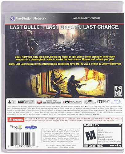 Metro Last Light - Playstation 3