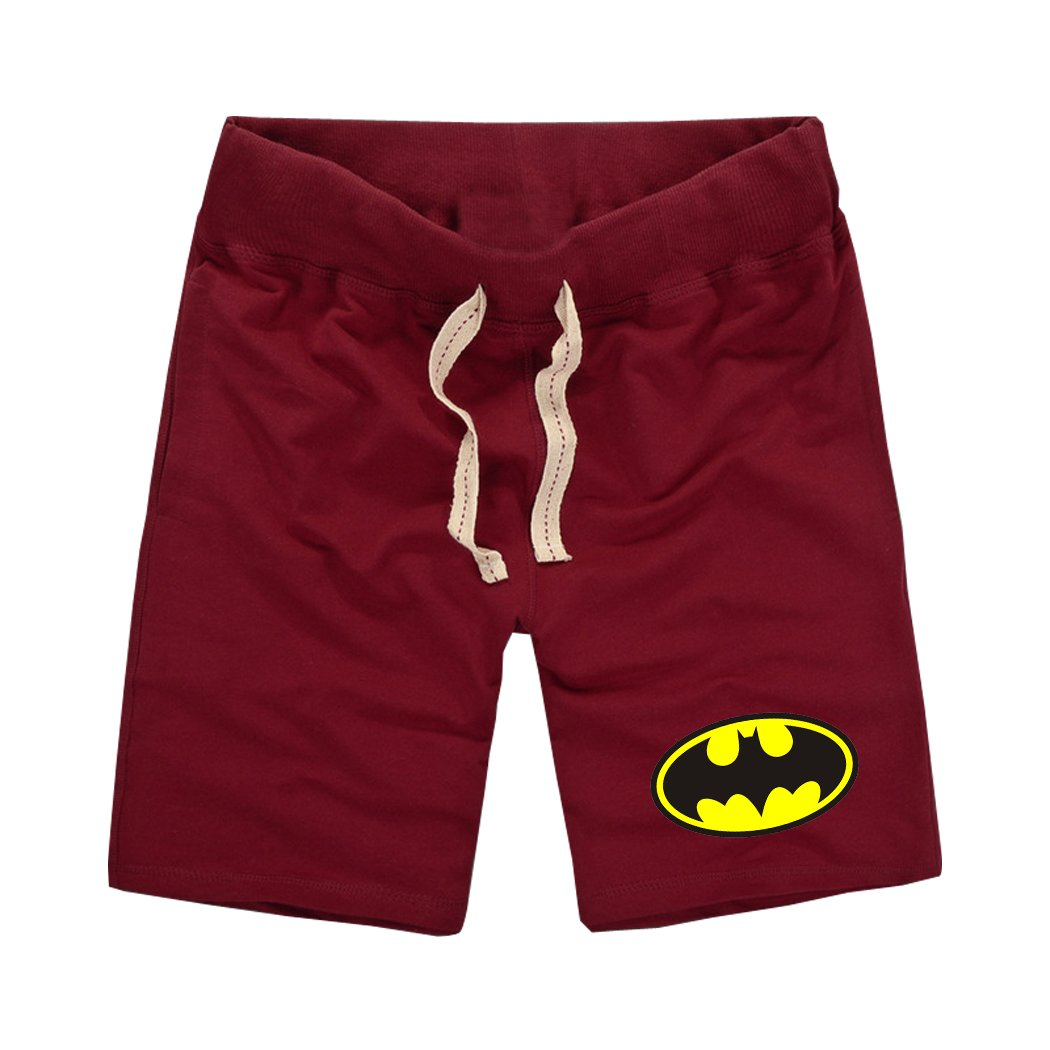 Sysuer Mens Batman Logo Cotton Gym Shorts Casual Short CShort818
