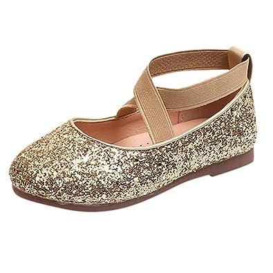 67ccd981a268a Ouneed- EU 20-34 Bebe Fille Chaussures Enfant Ballerine de Princess Diamand  Elastique Chaussure de Marche pour  Amazon.fr  Chaussures et Sacs