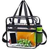 Magicbags Clear Bag Stadium Approved,NCAA NFL&PGA Security Approved Clear Tote Bag with Multi-Pockets and Adjustable Shoulder Strap,Perfect for Work, School, Sports Games and Concerts-12 X12 X6