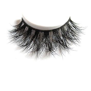 Amazon.com : 3D Mink Fur Fake Eyelashes 100% Siberian Mink Fur ...