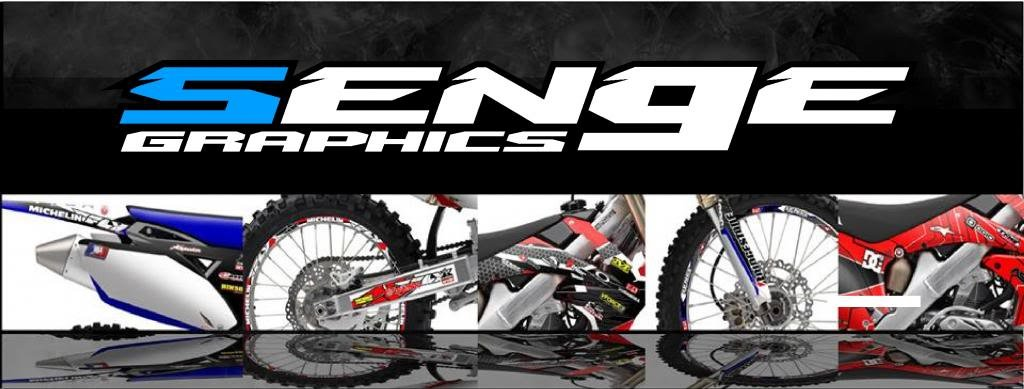 Senge Graphics 2004-2013 Honda CRF 70 Surge Black Graphics kit