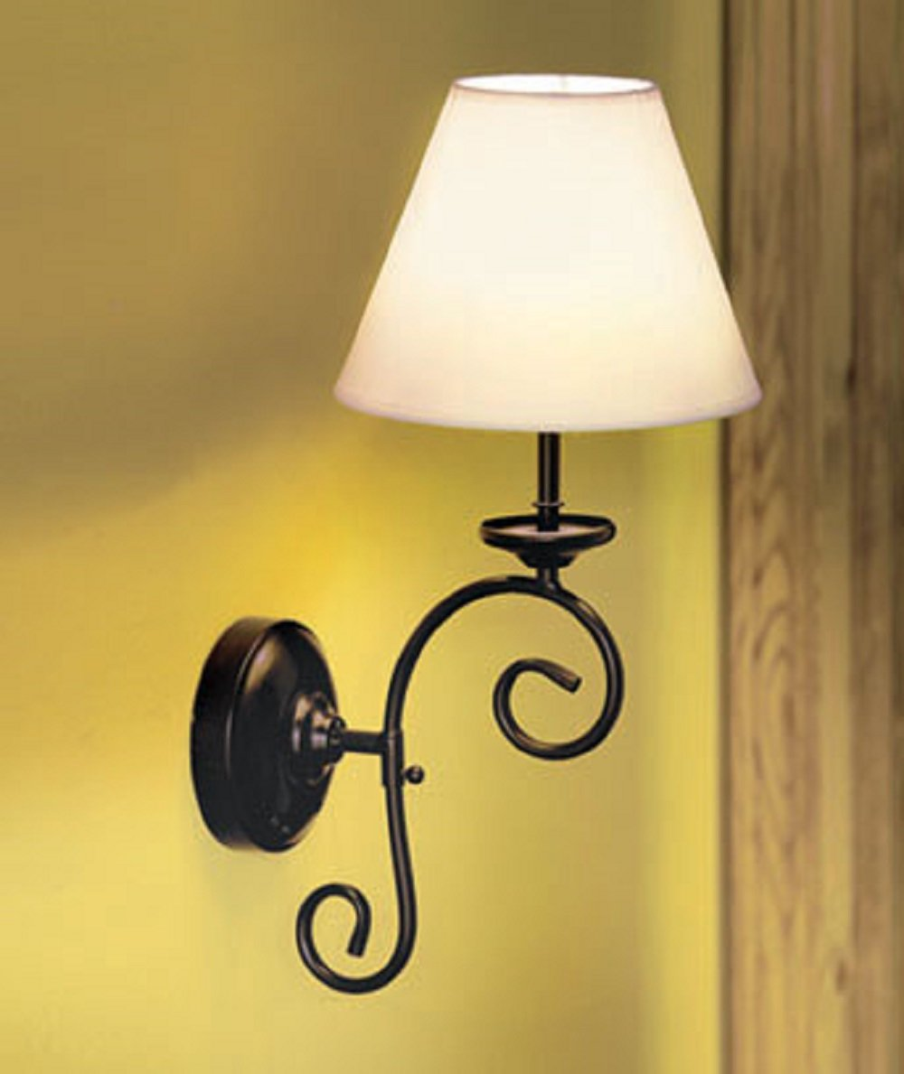 New Remote Control Cordless Vintage Wall Lamp Sconce Light Has 5 Bulbs Each Bulb Is LED Mount This Easily On Any Metal Scrollwork Frame With Fabric