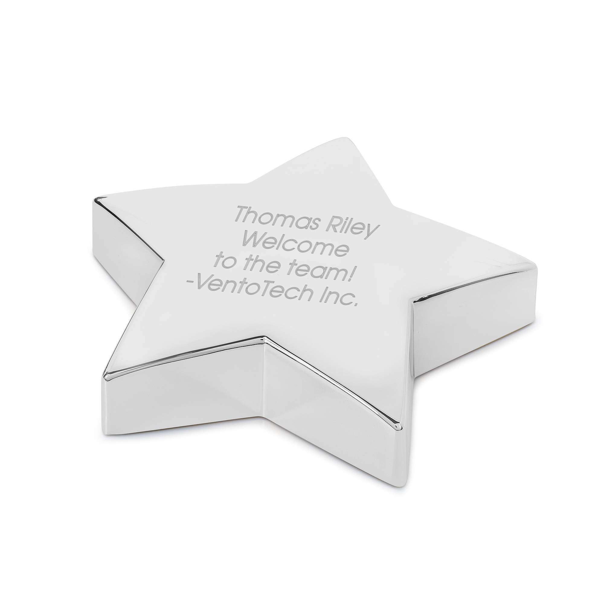 Things Remembered Personalized Silver Star Shaped Paperweight with Engraving Included by Things Remembered