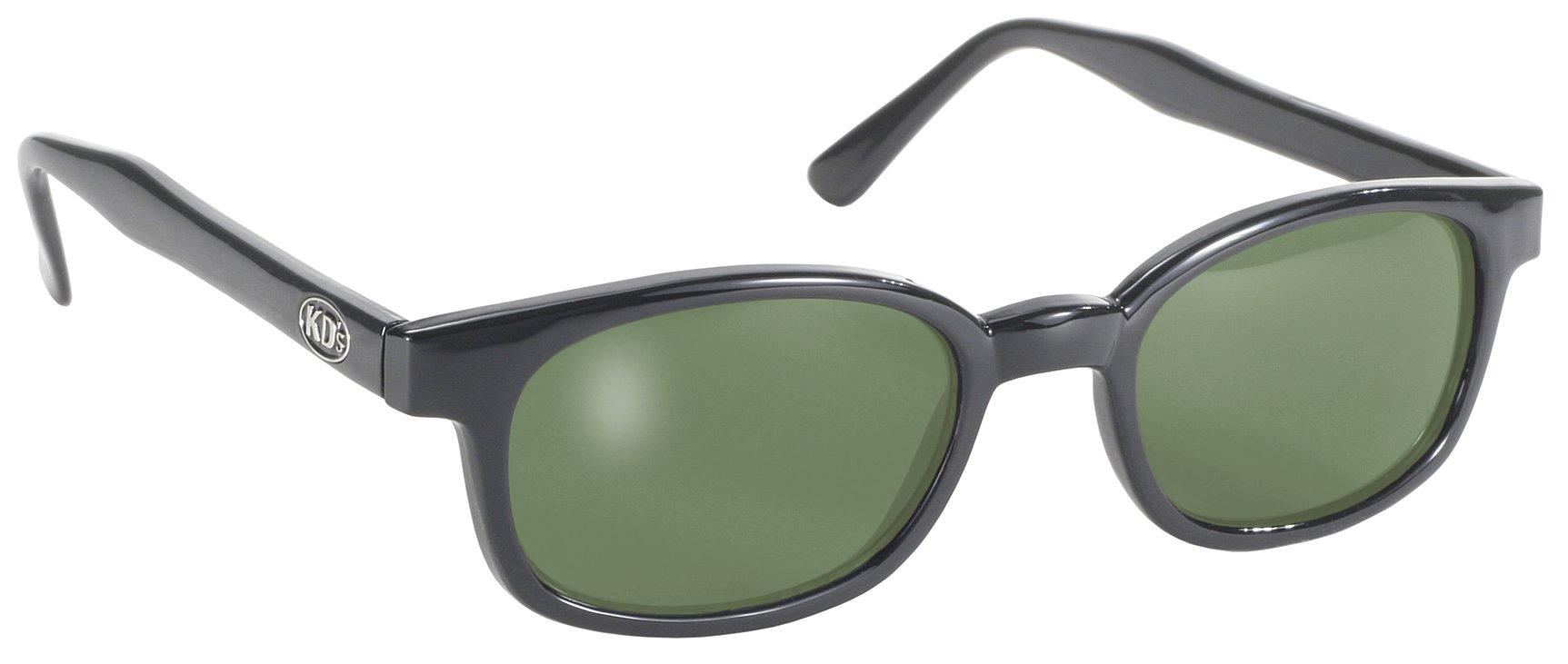 X KD Big Sunglasses Original Harley Biker Shades Black Green 1126