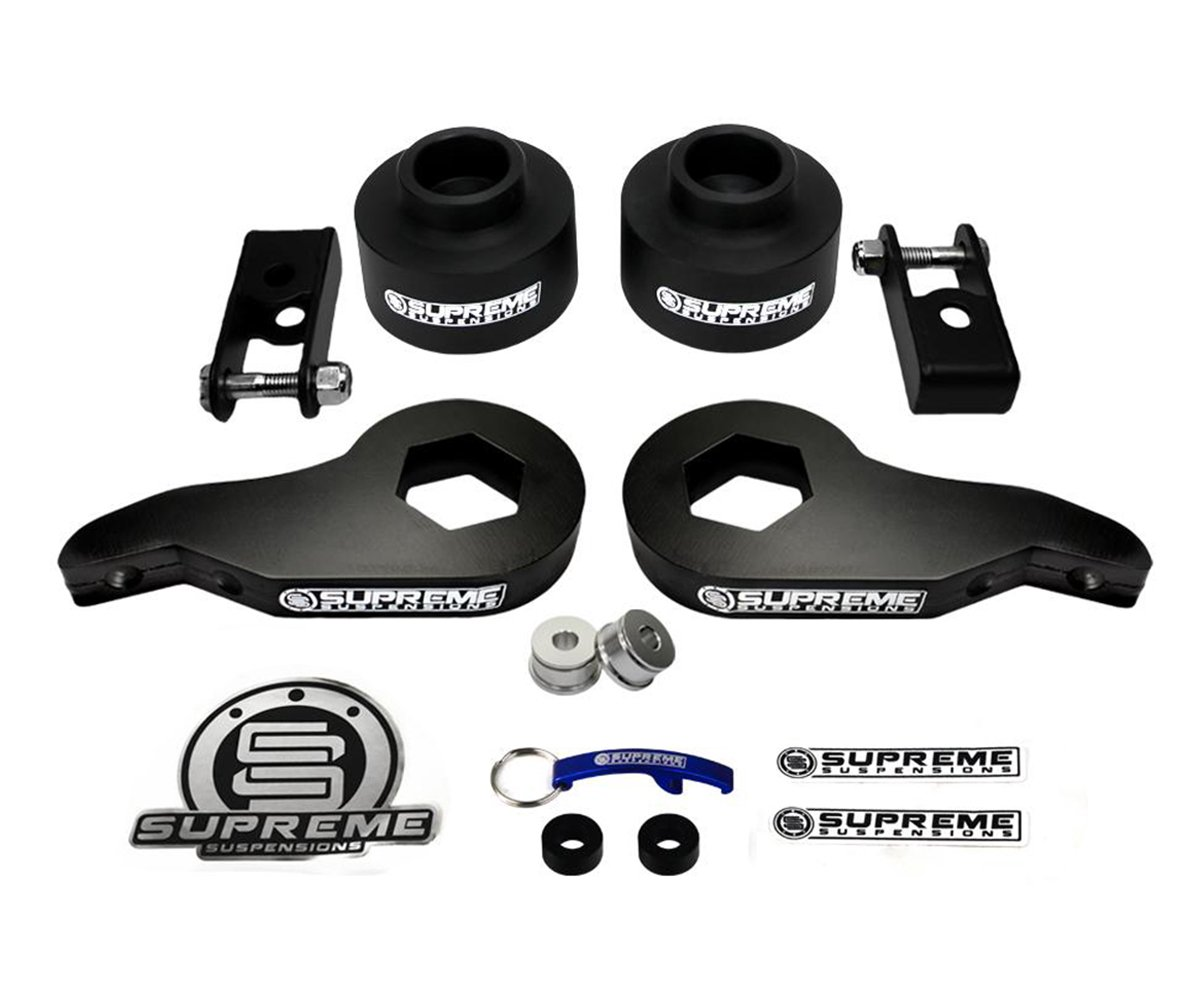 Amazon com supreme suspensions tahoe avalanche yukon suburban 1500 series lift kit adjustable 1 3 front suspension lift cold forged max torsion carbon
