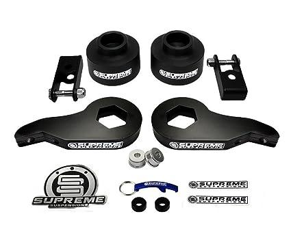 Supreme Suspensions Tahoe Lift Kit Adjule 1 3 Front Torsion Keys Shock Extenders 5 Rear Spring Ers 4wd 4x4 Black Easy