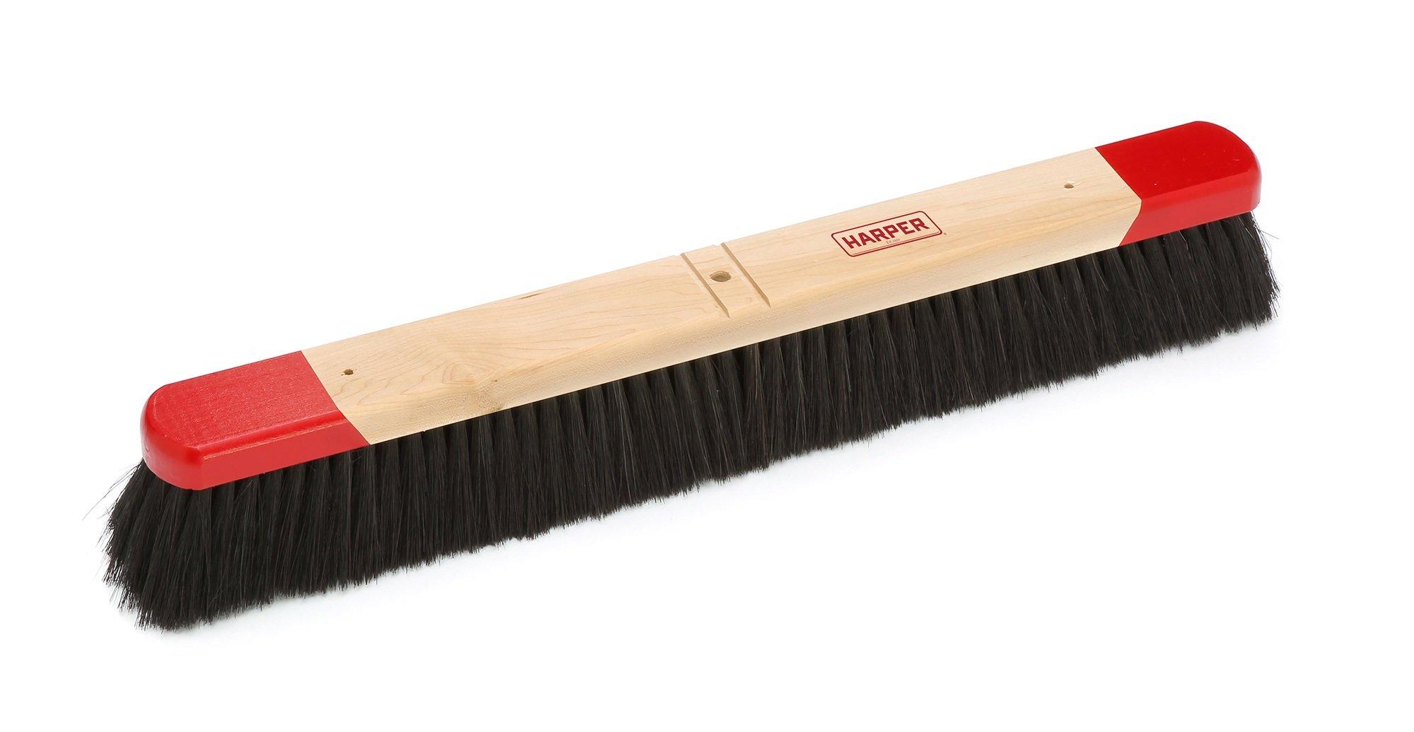 Harper Brush 542412 Broom Head, Tampico/Wire Fiber, All Purpose, Semi Rough Surface, Maple, 24'' (Pack of 6)