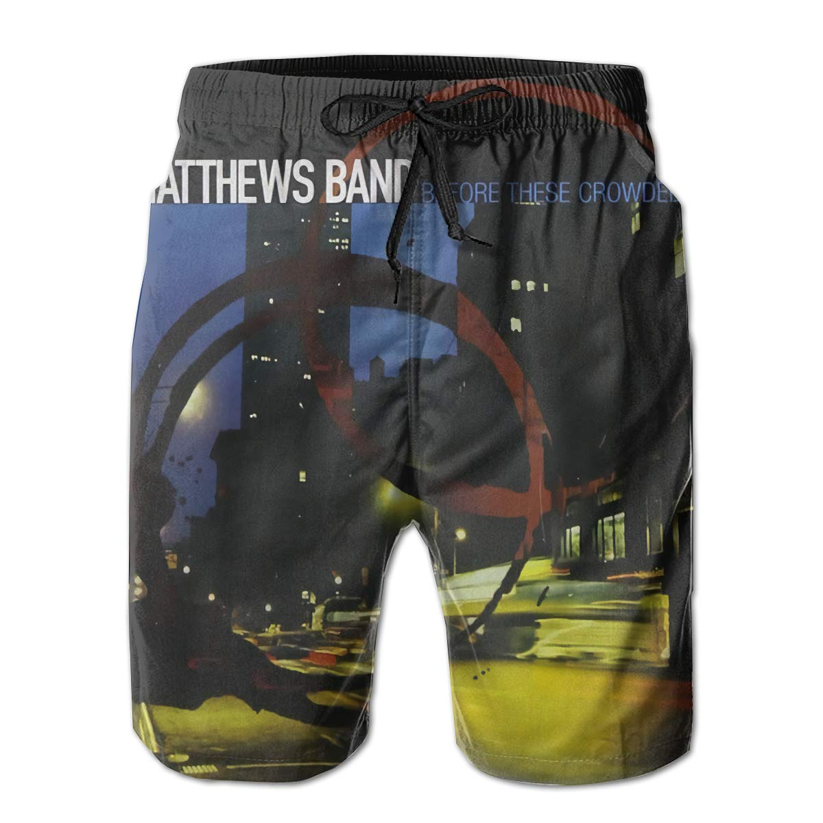 Robert R Castleberry Dave Matthews Before These Crowded Streets Mens Summer Beach Shorts Surfing Pants
