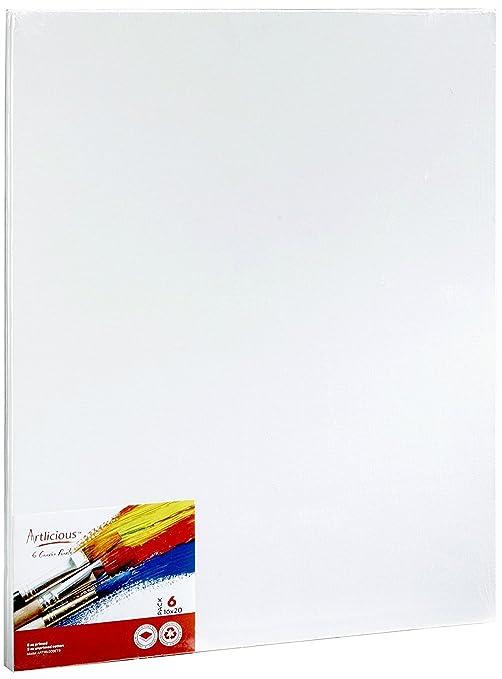 amazon com artlicious canvas panels 6 pack 16 x20 super value