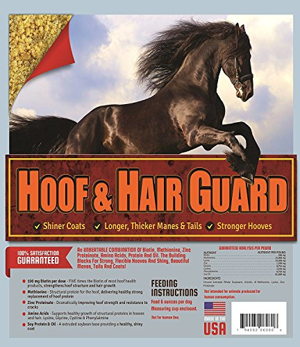 Horse Guard HOOF & HAIR GUARD EQUINE HOOF SUPPLEMENT AND EQUINE COAT SUPPLEMENT WITH AMINO ACIDS, BIOTIN, METHIONINE & SOY OIL, 10 lb by Horse Guard (Image #5)