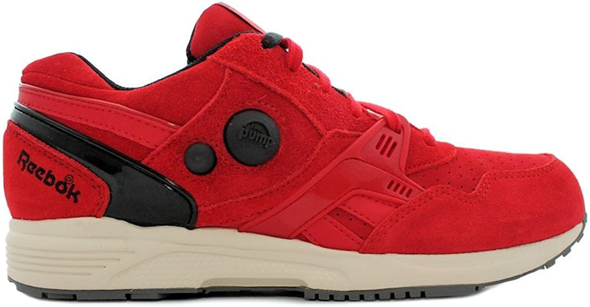 Reebok - Pump Running Dual - Color: Negro-Rojo - Size: 42.0: Amazon.es: Zapatos y complementos