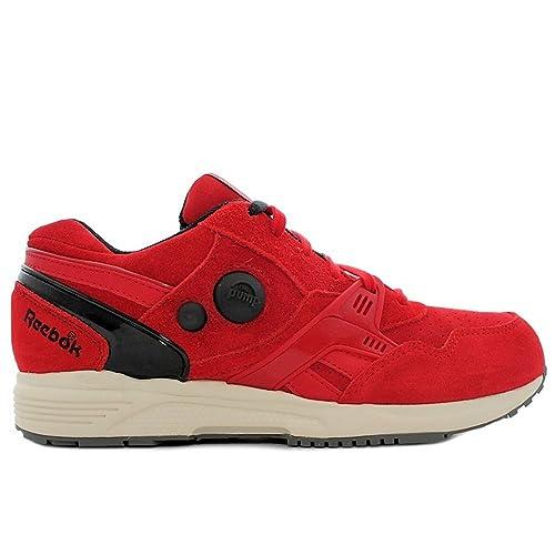 e7d91e00cae9e Reebok - Pump Running Dual - Color  Negro-Rojo - Size  42.0  Amazon.es   Zapatos y complementos