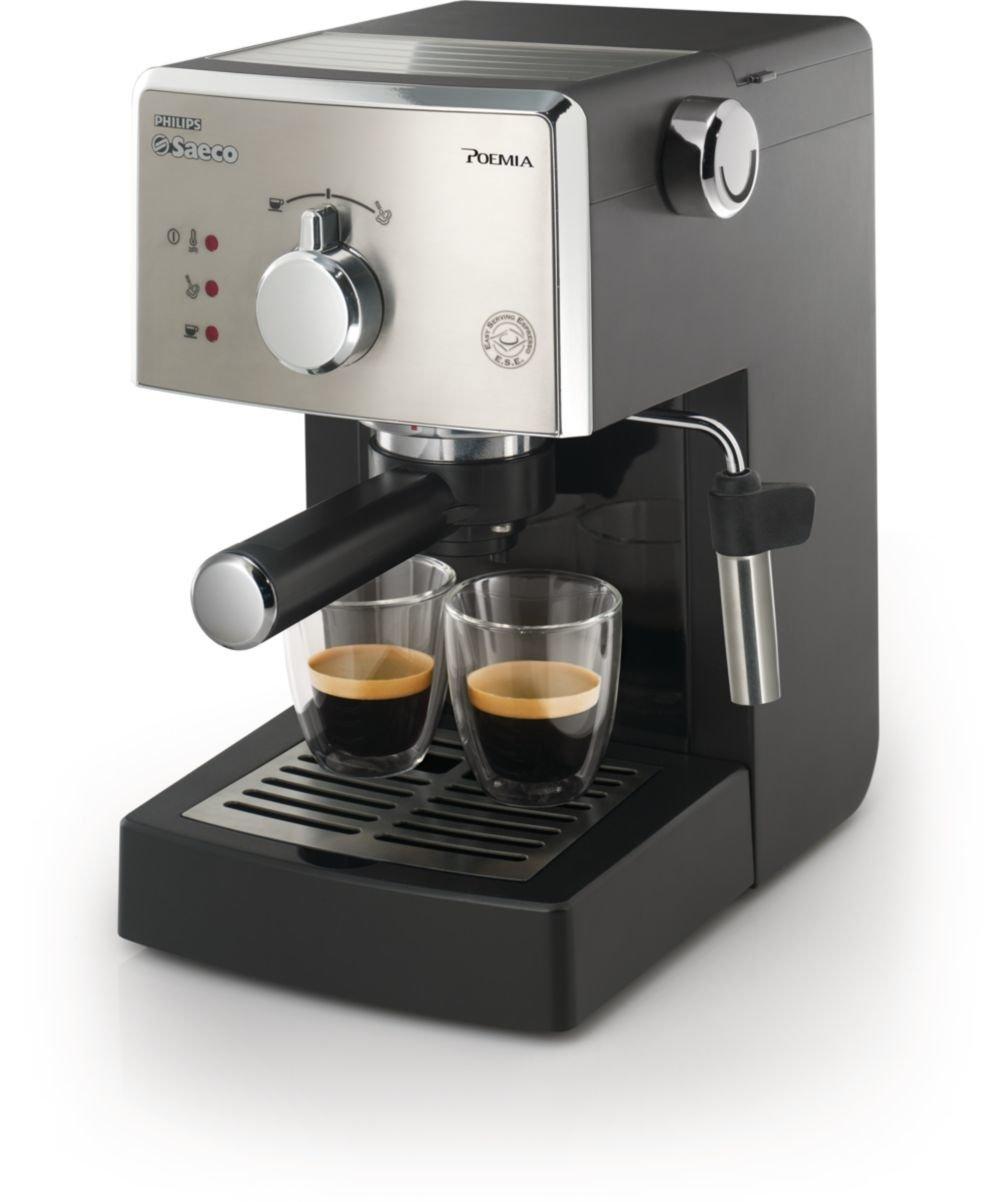 Saeco Poemia HD8325/47 Independiente Manual Máquina espresso 1L Plata - Cafetera (Independiente, Máquina espresso, 1 L, De café molido, 950 W, ...