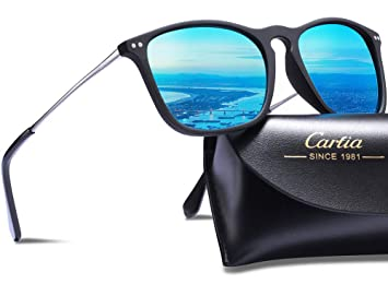 61f389d2949 Carfia Vintage Polarized Sunglasses for Men and Women