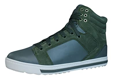Skechers Kicks Free Rider Womens Leather Sneakers - Boots-Olive-6