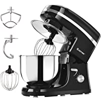 Costway 800W Professional Stand Mixer 6 Speed Tilt-Head Food Electric Stand Mixer With 5.3Qt Stainless Steel Bowl Mixer Kitchen Machine