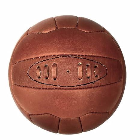 Calidad de Piel Vintage de fútbol balón de fútbol: Amazon.es ...