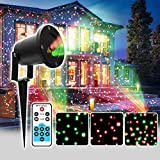 Christmas Lights IP65 Waterproof R&G Landscape Projector with RF Remote Control for Garden/Landscape/Yard/Lawn/Tree/Outdoor Wall/Snow/Home/House Decoration and Christmas Holiday Decoration (OD100)