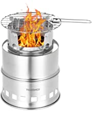 TOMSHOO Camping Stove/Backpacking Stove and windshield Backpacking Stove for Outdoor Hiking Picnic BBQ