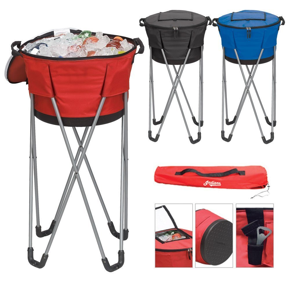 Travelwell Collapsible Barrel Cooler with Stand, Red