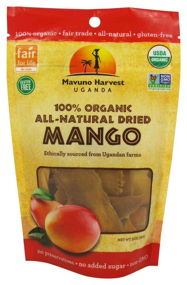 Mavuno Harvest Organic Dried Mango, 2 oz