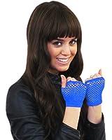 The Pea's Knees Damen Kurze fingerlose Fischnetz-Handschuhe