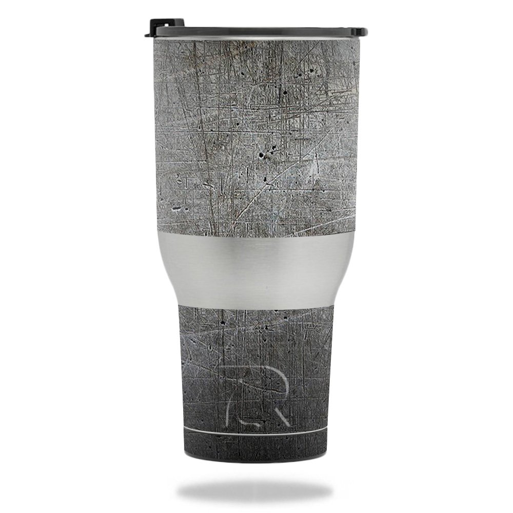 MightySkins Skin for RTIC Tumbler 40 oz. (2017) - Scratched Up   Protective, Durable, and Unique Vinyl Decal wrap Cover   Easy to Apply, Remove, and Change Styles   Made in The USA