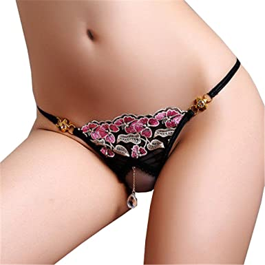 cc665a2d4a6d Shirloy Sexy Underwear Free of Night fire Perspective Sexy Thong Open File  hot Female Thong Bikini Thong, Black, L: Amazon.co.uk: Clothing