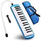 Frunsi 32 Key Melodica Instrument with Piano Keyboard Style, Easy to Play for Adult Children, Suit for Music Learning, Playing, Party Fun with Carry Bag