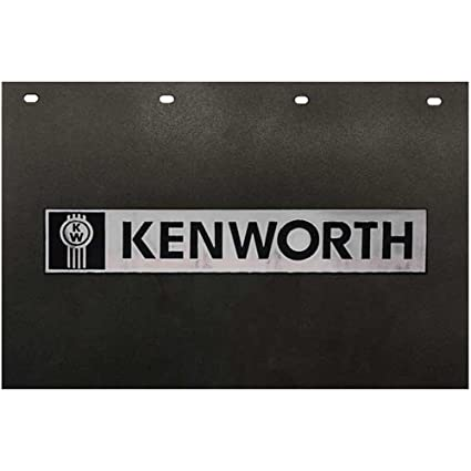 Semi Truck Mud Flaps >> Amazon Com Kenworth Trucks 24 X 15 Black Silver Poly Semi Truck