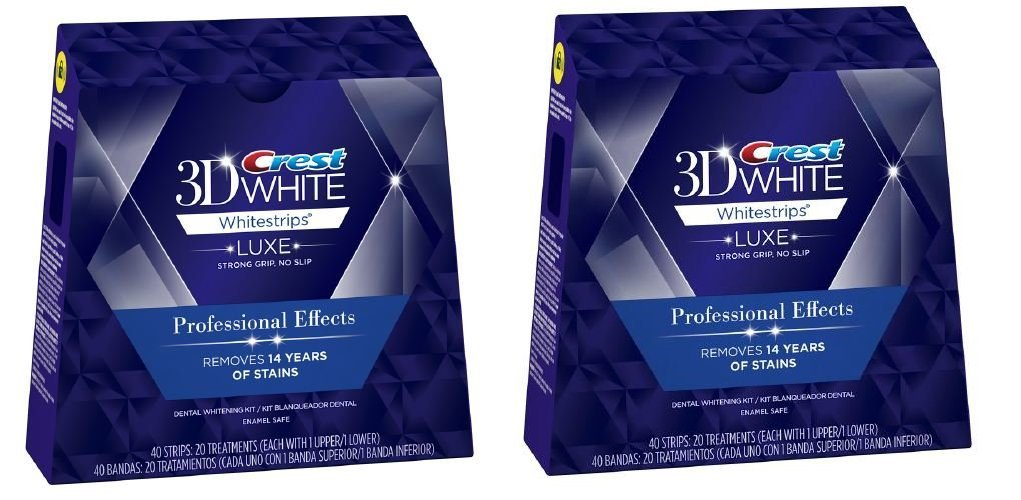 Crest 3D Luxe Whitestrips Professional Effects, Enamel Safe - 20 ct - 2 pk