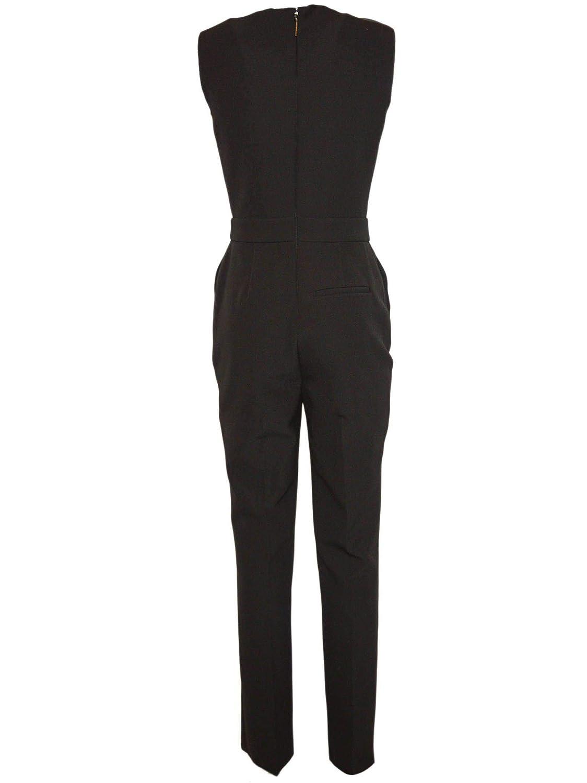 046a728adbb Amazon.com  MSGM Women s 2543Mda0318470199 Black Polyester Jumpsuit   Clothing