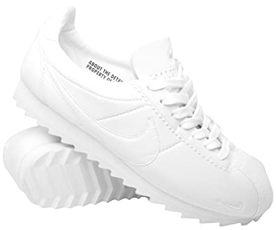new arrival e8d67 f695b NIKE Mens Classic Cortez Shark Low SP, WhiteWhite-Black, ...