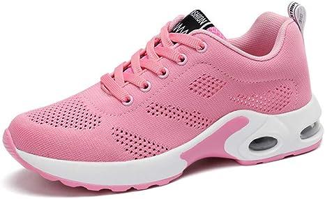 ASTAOT Zapatos para Mujer Amortiguación Zapatillas Deportivas Mujer Aumento De Altura Zapatillas Ultraligeras Mujer-Purple A,5.5: Amazon.es: Deportes y aire libre