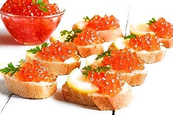 """Salmon Caviar - RED CAVIAR - Grade """"A"""" Quality - 2 2-lb (1"""