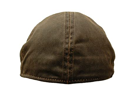 d0b31f259ca ROOSTER HEADWEAR Weathered Cotton Duckbill Newsboy Gatsby Cap Golf Ivy Hat  Brown (Small Medium) at Amazon Men s Clothing store