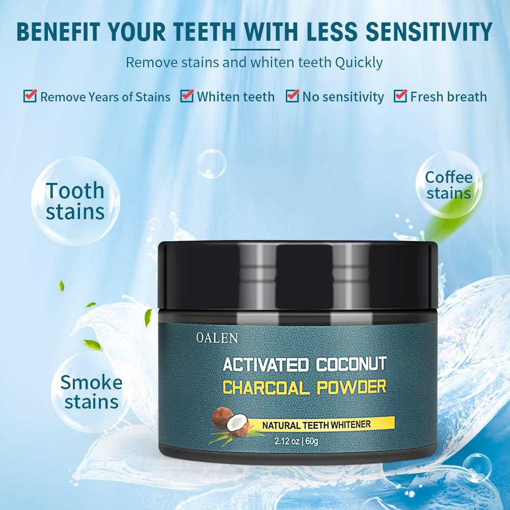 Amazon.com: Polvo blanqueador de dientes natural de carbón ...