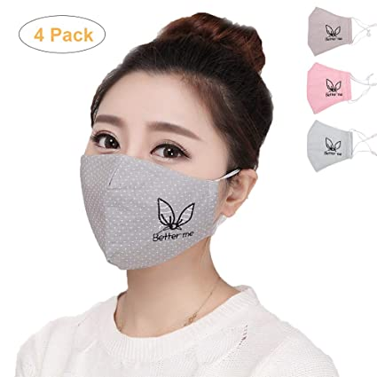 Winter Mouth Mask Cotton Cute Anti Haze Black Dust Mask Nose Windproof Face Muffle Bacteria Flu Fabric Cloth Respirator Black Reputation First Women's Accessories Women's Masks
