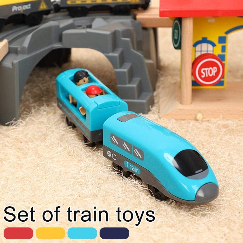 Kinder Holzeisenbahn Zug Elektrische Lokomotive Spielzeug Set 2020 ...