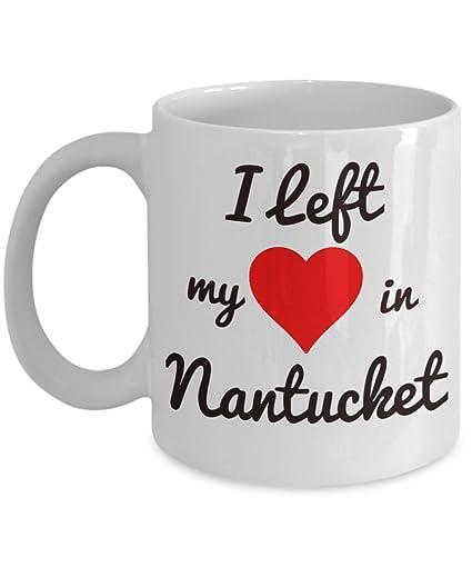 Nantucket Mug - Nantucket Souvenirs - I Left My Heart in Nantucket - Nantucket Gifts For