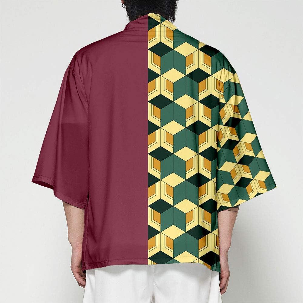 Kimetsu no Yaiba Kimono Tops Cosplay Cardigan Jacket Coat Cloak for Men Women