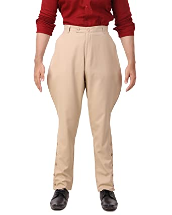 8796c49058 Amazon.com: ThePirateDressing Steampunk Victorian Cosplay Costume Mens  Archibald Jodhpur Pants Trousers C1326: Clothing