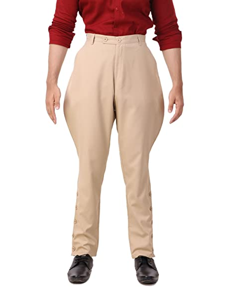 Vintage High Waisted Trousers, Sailor Pants, Jeans ThePirateDressing Steampunk Victorian Cosplay Costume Mens Archibald Jodhpur Pants Trousers C1326 $44.95 AT vintagedancer.com
