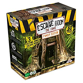Escape Room The Game, Family Edition - with 3 Exciting Jungle Escape Rooms | Solve The Mystery Board Game for Family, Kids & Teens