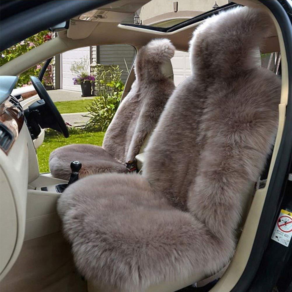Cameo Brown, One Piece Australiana sedile pecora genuina coperture for sedili auto camion SUV Van anteriori Universal Fit